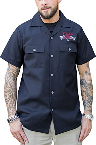 Rumble59 - Worker Shirt - Strong and Dirty, L (Geldbörse Logo-leder-kette)