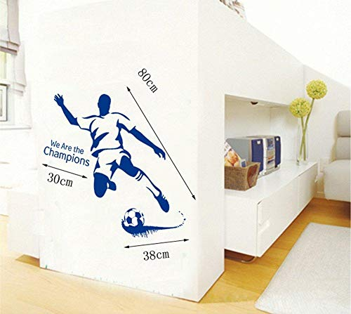 Wandtattoos Football Player in Aktion Wall Art Aufkleber mit dekorativen
