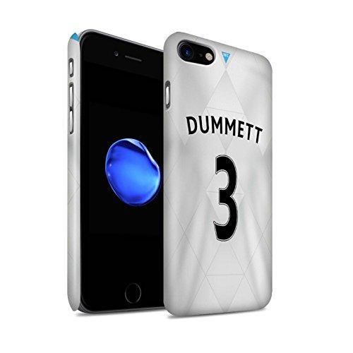 Officiel Newcastle United FC Coque / Clipser Matte Etui pour Apple iPhone 7 / Taylor Design / NUFC Maillot Extérieur 15/16 Collection Dummett