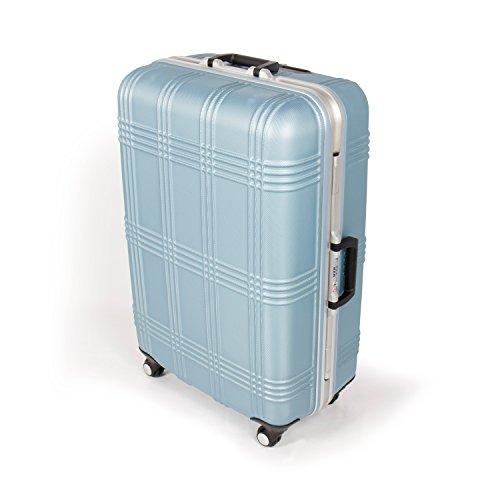 MasterGear Hartschalenkoffer mit Aluminium Rahmen in blau   Größe L: (75,5 x 51,5 x 29 cm / 80 Liter)   Koffer mit 4 Rollen (360 Grad)   Trolley, Reisekoffer, ABS, TSA, stapelbar