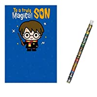 Unique Industries and Danilo Harry Potter Magical Son Birthday Card with a Harry Potter Pencil Gift