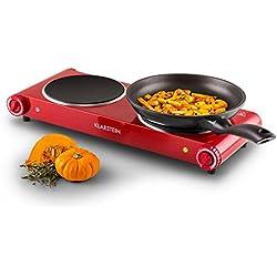 Klarstein Captain Cook² Plaque de cuisson en céramique et acier inoxydable Rouge 20cm 1200W