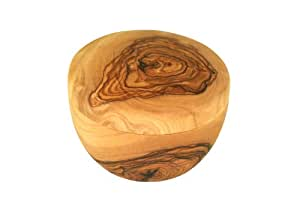 D.O.M. Rasage bol avec couverture en bois d'olivier.