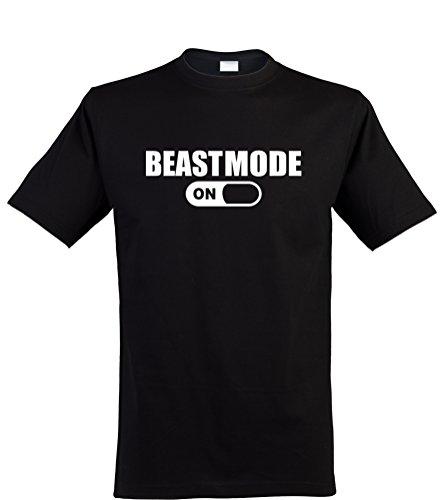 Klamottenkiste24 Herren T-Shirt, Beastmode, Schwarz, Gr. ()