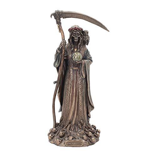 Nemesis Now Dekofigur Santa Muerte, 38 cm, Bronze, 17 cm
