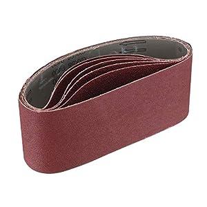 Miady Pack of 15 Sanding Belts, 75 x 533 mm, Grit: 3X Each 5 of 80/120/150/240/400, for Belt Sanders