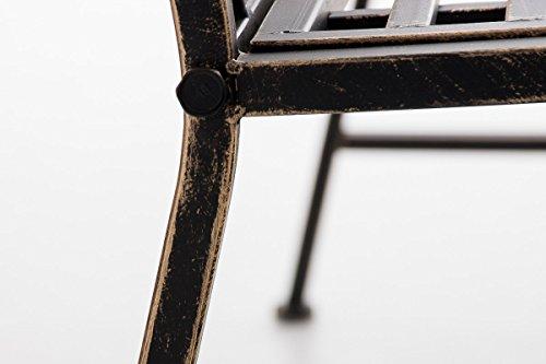 CLP Gartenbank ABIONA im Landhausstil, Eisen lackiert (Metall) ca 110 x 50 cm Bronze - 7
