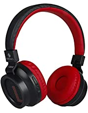 Zeb-Bang Bluetooth Headphone with Voice Assistant (Red)