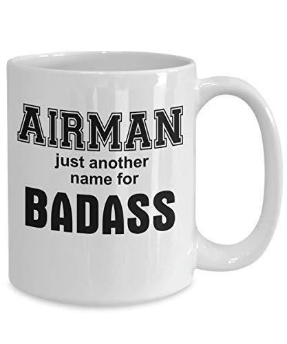 Mike21Browne Geschenk f¨¹r Flieger Milit?r Veteran Badass Kaffeetasse Sie sind EIN Badass f¨¹r Frauen M?nner Mama Papa Herren