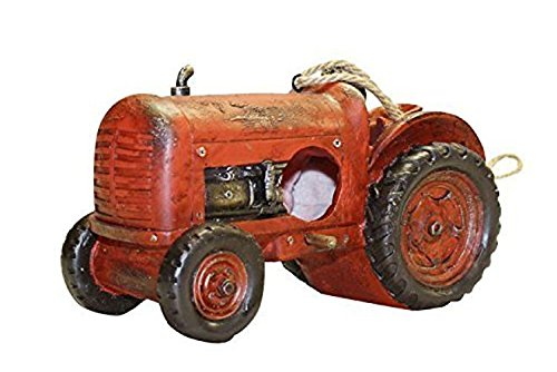 Luxus Wandbehang Rot Traktor Vogel Garten Nestbau Nester Station Box Haus (Traktor-boxen)