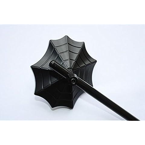 Coppia di specchi universali Ragni nero opaco Spider-Black Mirrors