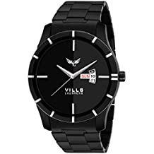 Vills Laurrens Analogue Black Dial Day and Date Series Men's Watch