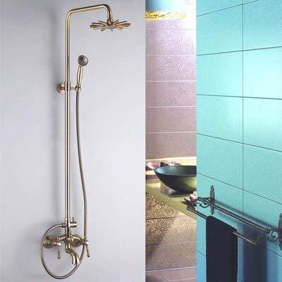 Retail-Luxury Brass Shower Set, Sliding Shower, Shower Bar, Bronze Finish, Free Shipping L15876,Chocolate