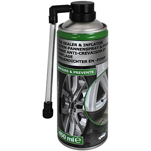 TW24 Reifen Pannenspray 450 ml für Auto oder Motorrad Reifendichtmittel Pannenhilfe Spray Reifendichtspray