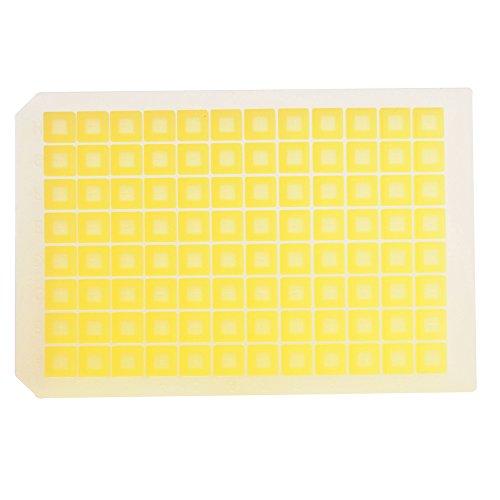 MicroLiter 07-0061Y Silikonmatte, konfektioniert, 96 Quadratische Vertiefungen, Gelb