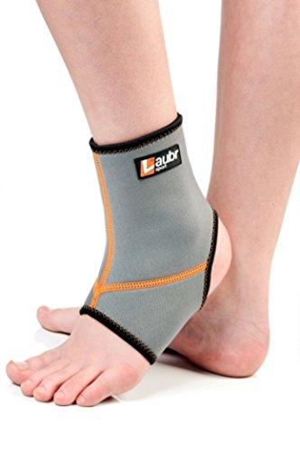 Laubr Sport Fitness Fuß-Manschette, White/Orange, XL