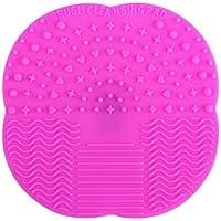 Geryy - 1 pieza de almohadillas de limpieza de silicona para maquillaje, limpiador de cepillos, almohadilla de limpieza, almohadilla de limpieza para el hogar y viajes