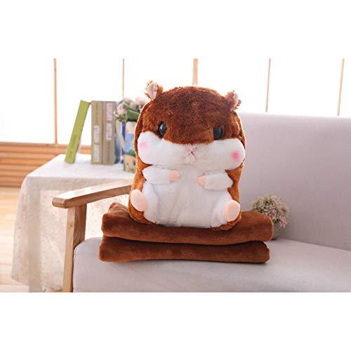 YOMDYSW Warmes Handkissen- Handwarm Decke Hamster Mit EIS Puppe Kuscheltier Weich Kissen Spielzeug Kinder Baby Geburtstagsgeschenke