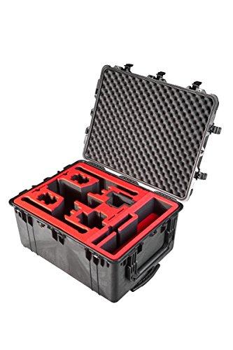Professioneller Transportkoffer für DJI Inspire 2 - Landing Mode - Platz fuer X4S/X5S - 20 Batterien, Objektive, Deckel im Peli 1630 Koffer von MC-CASES - 3