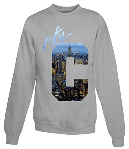 Billion Group | Big Town View | City Collection | Women's Unisex Sweatshirt Gris