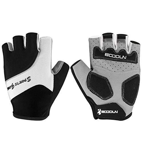 MISS&YG Radfitness-Produkte atmungsbeständig verschleißfeste Geräte halbe Fingerhandschuhe,Black,L