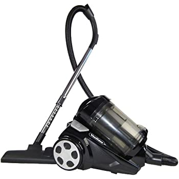 VonHaus 2400W 4Ltr Bagless Cyclonic Cylinder Vacuum Cleaner with HEPA Filtration System, Extendible Tube + Crevice/Upholstery Attachment (Black)