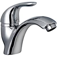 Horleora Grifo de Lavabo - Grifo Lavabo Monomando Mezclador Agua Caliente y Frio - Ahorro del Agua - Cromodo