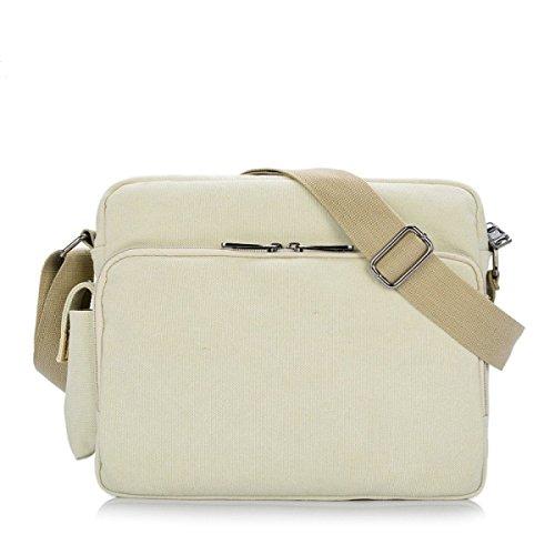 MYLL Retro Della Tela Di Canapa Unisex Shoulder Bag Messenger Beige