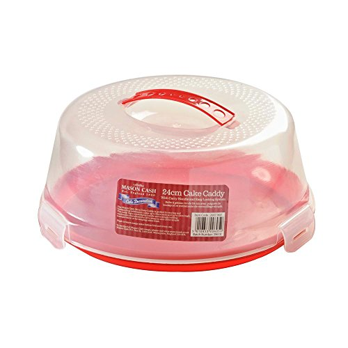 The Mason Cash Cake Caddy provides a practical solution to transport your cakes from A to B safely. The clear lid means your can easily view your baked goods, meaning that you can show other people your creation without opening the lid. It also has a...
