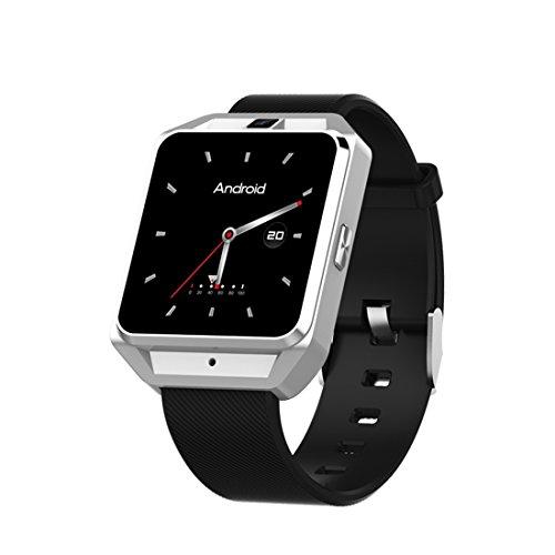 XHL Art 4G GPS Android 6.0 Smart Watch M5 MTK6737 Pulsmesser Unterstützung SIM-Karte Kamera Business Smartwatch Für Männer Frauen,Silver