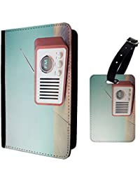 Retro Radio Luggage Tag & Passport Holder - S463