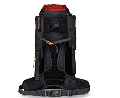 Sacchetti di nylon outdoor alpinismo borsa 70L zaino per uomini e donne Gift Pack , black Red