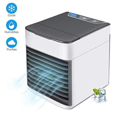 Marbeine 3 in 1 Mini-Luftkühler, tragbar, USB, Ventilator, Klimagerät, 7 LEDs, Nachtlicht für Haus, Büro Sonar-adapter