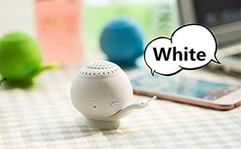 Mini son support Chickwin nouveau support de téléphone ventouse escargot mini haut-parleur portable Bluetooth Bluetooth créatif audio (Blanc)
