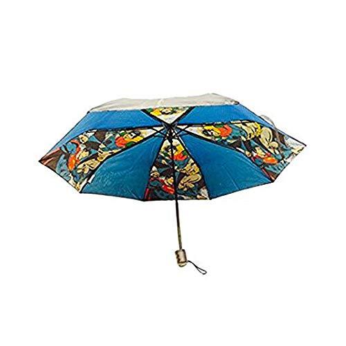 BB Designs Dc Vintage Comic Justice Umbrella Regenschirm 25 Centimeters Schwarz (Black)