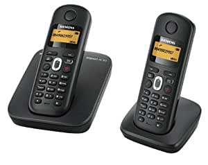 Gigaset AL180 Twin DECT Cordless Phone - Black