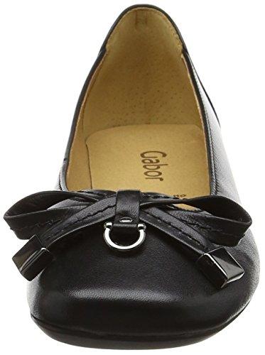 Gabor Fashion, Ballerines Femme Noir (schwarz 27)