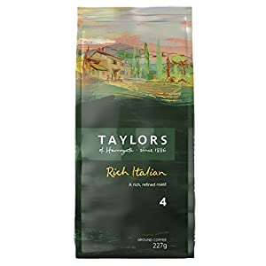 Taylors of Harrogate Rich Italian Ground Coffee, 227 g