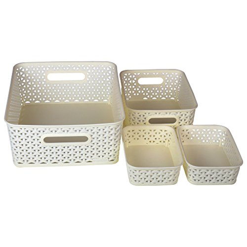 Bel Casa ROYAL Baskets for Storage Set of 4 Pieces (Medium, Small and A6 x 2)
