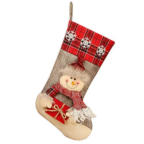 Westeng Calcetín Decoraciones Navidad Media Navidad