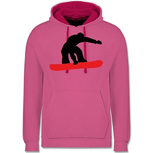 Wintersport - Snowboard Board - Kontrast Hoodie Rosa/Fuchsia