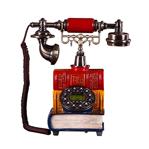 Büroelektronik Antikes Europäisches Telefon Mode Kreative Antike Retro Feste Telefon Telefon Dekoration Geschenk Bürotelefone (Color : Red, Size : 25 * 16 * 25cm)