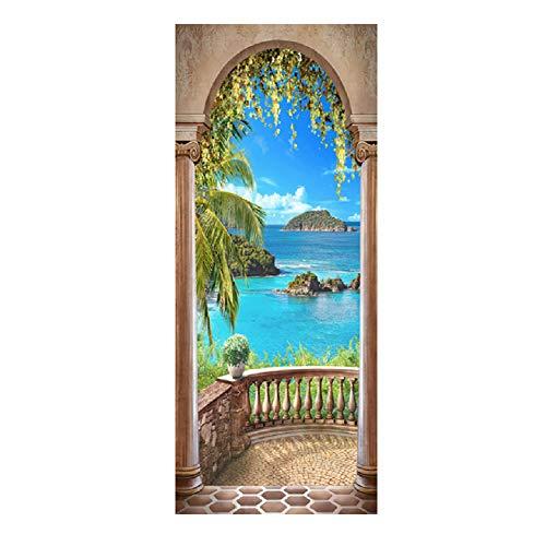HEDDK Türaufkleber Tür Wandbilder Aufkleber 3D Abnehmbare Selbstklebende Wandmalerei Abziehbilder PVC DIY Schlafzimmer Büro Home Weihnachten Dekoration Poster Tapete Kinderzimmer Geschenk