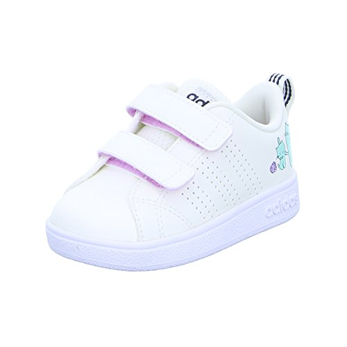 adidas Vs Advantage Clean Cmf Inf, Scarpe da Tennis Unisex-Bambini, Bianco Clowhi/Onix, 20 EU