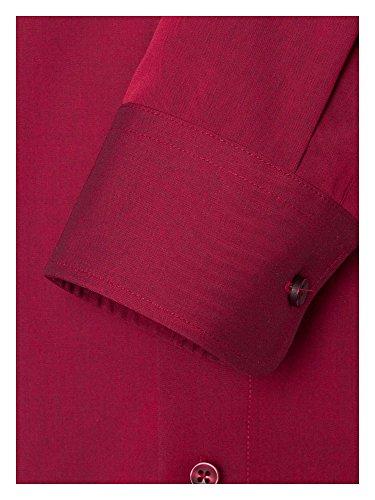CASAMODA Messieurs Chemise d'affaires Également disponible en grandes tailles 100 % coton rouge foncé