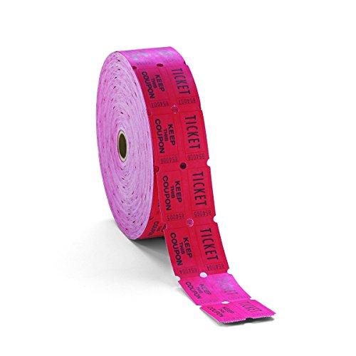 PM Company doppelt Ablagerung One, Halten, Ticket Rolle, weiß, 1Rolle von 2000Tickets (59005) Rot 1 Stück rot (Single Roll Tickets)