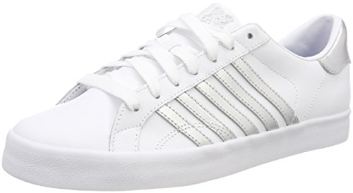 newest b79c6 e2198 K-Swiss Damen Belmont so Sneaker, Weiß (White Silver), 42 EU