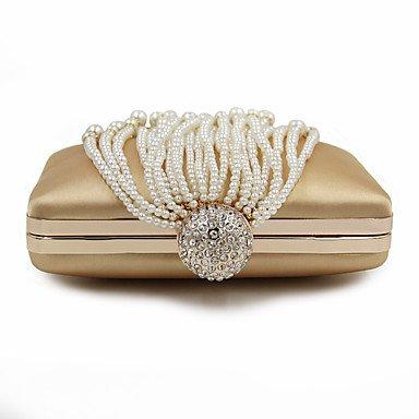 SUNNY KEY-Pochette e Clutch @ Donna Poliestere Formale Casual Serata/evento Matrimonio Ufficio e lavoro Borsa da sera , silver gold