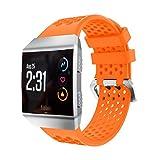 Upxiang leggero silicone perforato sport bande, cinturino, cinturino di ricambio per Fitbit Ionic, Orange