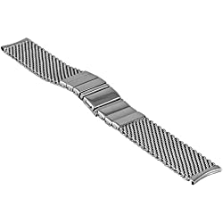 Vollmer, 0503SHR4Watch Band Milanese Mesh, with fold over clasp, 20mm